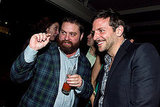 Zach Galifianakis and Bradley Cooper hung out at the New Yorker White House Correspondents' Dinner preparty in 2011.