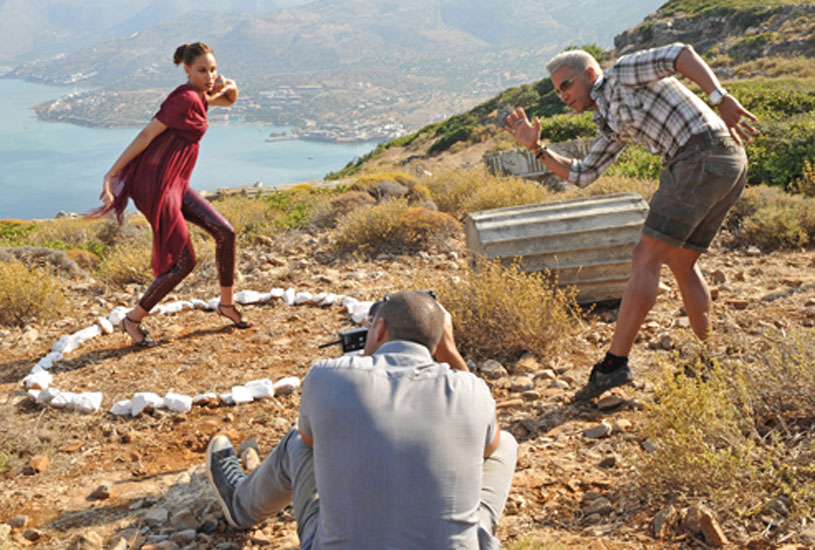 Though Nigel showed Angelea how to use the shot put and literally repositioned her during the shoot, she still had trouble understanding what to do.  Photo courtesy of CW