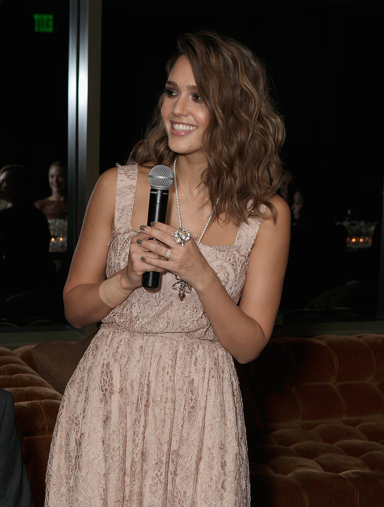 Jessica Alba hosting a Swarovski dinner in LA.