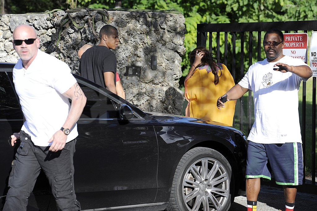 Jay-Z joined Beyoncé in checking out property.