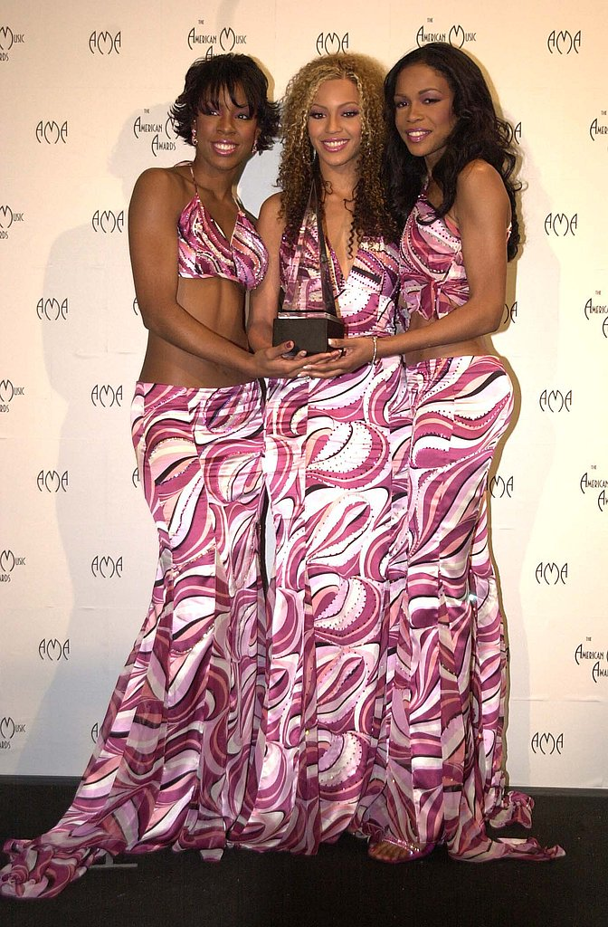 The ladies of Destiny's Child posed with their award backstage together in 2001.
