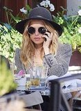 Rachel Zoe eating lunch in LA.