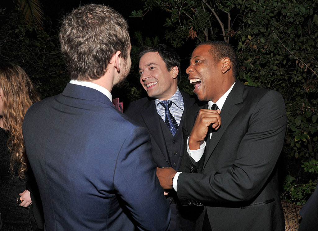 Justin Timberlake, Jimmy Fallon, and Jay-Z horsed around.