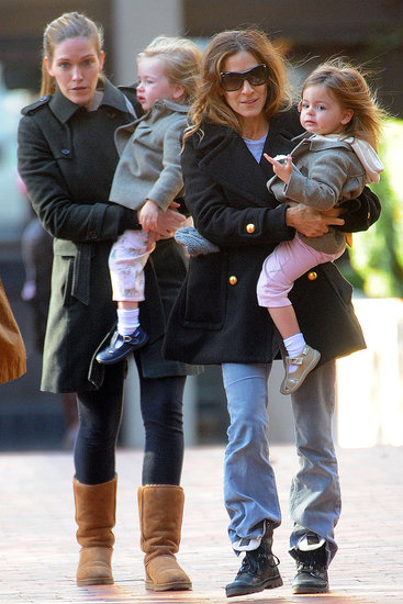 Sarah Jessica Parker and daughter Tabitha Broderick went out to a meeting in NYC with Loretta Broderick.