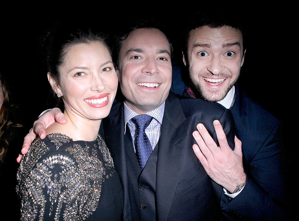 Jimmy Kimmel got between Jessica Biel and Justin Timberlake.