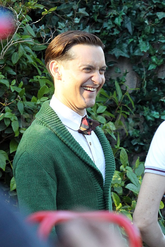 Tobey Maguire laughed while filming The Great Gatsby.
