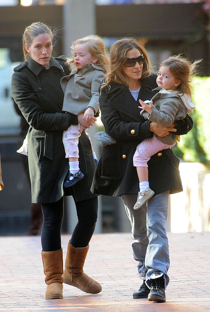 Sarah Jessica Parker and daughter Tabitha Broderick went out in NYC with Loretta Broderick.