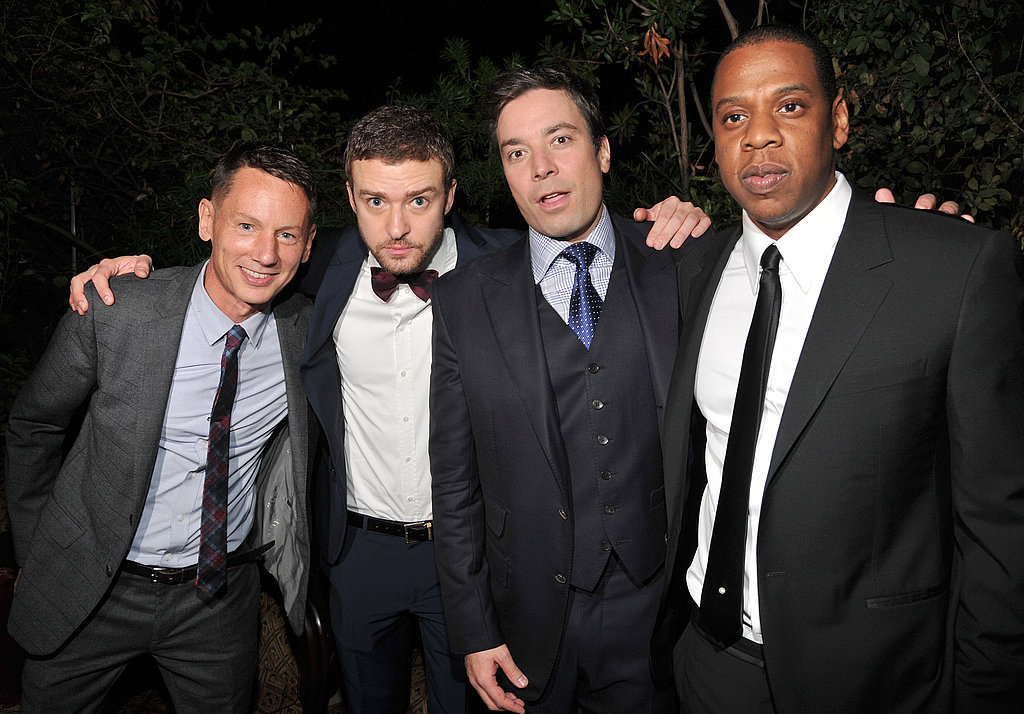 Justin Timberlake, Jimmy Fallon, and Jay-Z were congratulated by GQ's Jim Nelson.