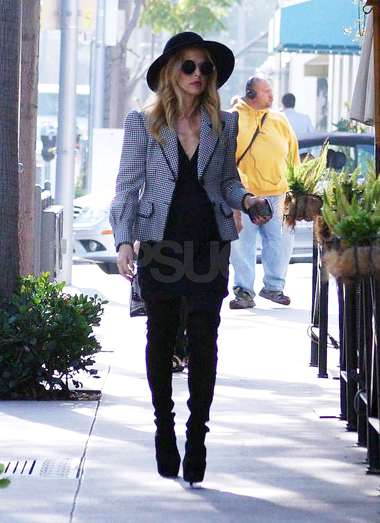 Rachel Zoe at lunch in LA.