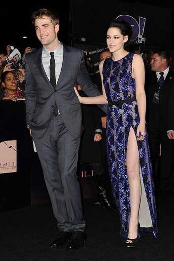Robert Pattinson and Kristen Stewart couldn't contain their affection at the LA premiere of Breaking Dawn Part 1 in November 2011.