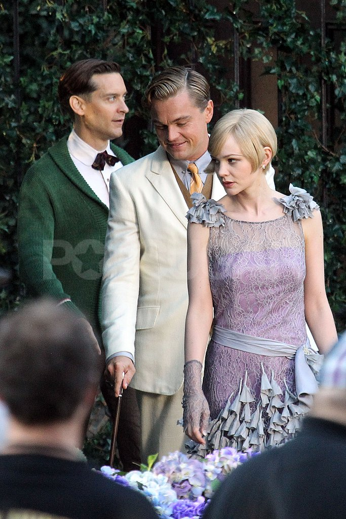 Leonardo DiCaprio, Carey Mulligan, and Tobey Maguire got in line for The Great Gatsby.