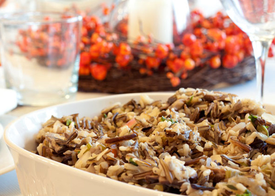 Gluten-Free Wild Rice and Mushroom Stuffing