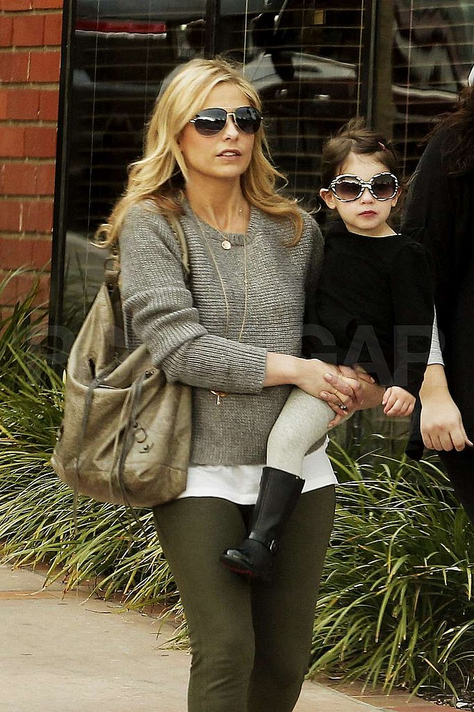 Sarah Michelle Gellar was in LA with daughter Charlotte Prinze.