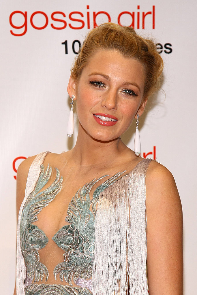Blake Lively at a Gossip Girl party.