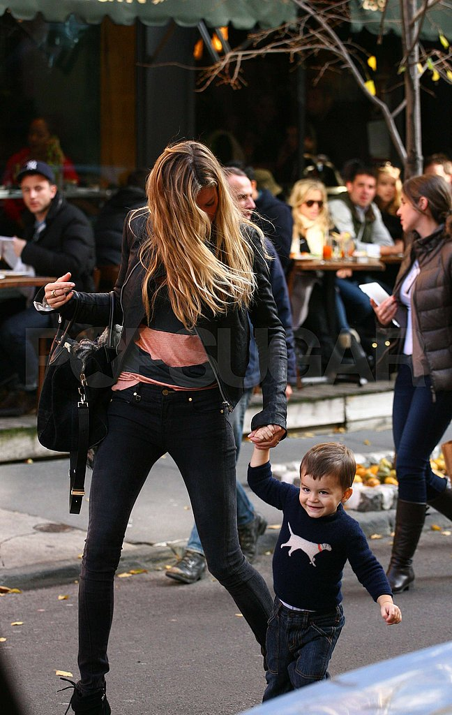 Gisele Bundchen and son Benjamin Brady in NYC.