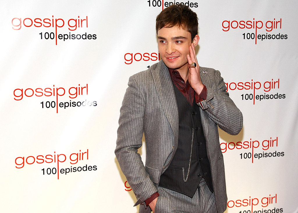 Ed Westwick made a funny face.