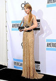 Taylor Swift was shocked by winning three American Music Awards.