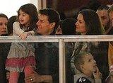 Tom Cruise and Katie Holmes at an ice-skating rink in Pittsburgh.