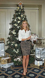 Heidi Klum was surrounded by holiday cheer.