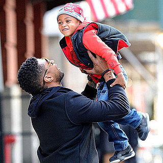 Usher in NYC With Sons Cinco and Naviyd Raymond Pictures
