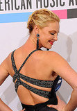 Katherine Heigl showed off the back of her gown.