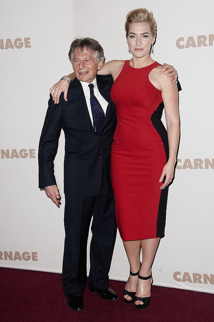 Kate Winslet and her Carnage director Roman Polanski.