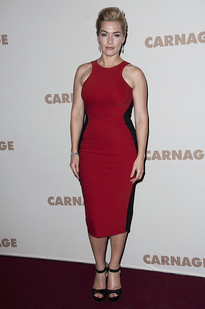 Kate Winslet wore Stella McCartney in Paris.