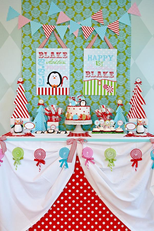 Winter Candy Land Dessert Table