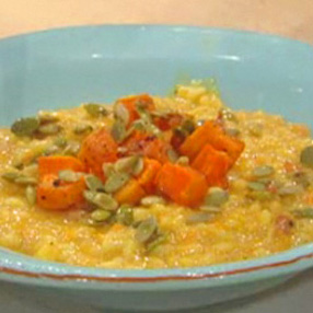 Butternut Squash Risotto With Bacon Recipe From Rachael Ray