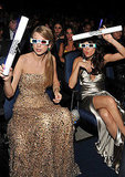 Taylor Swift and Selena Gomez get into the 3D spirit.