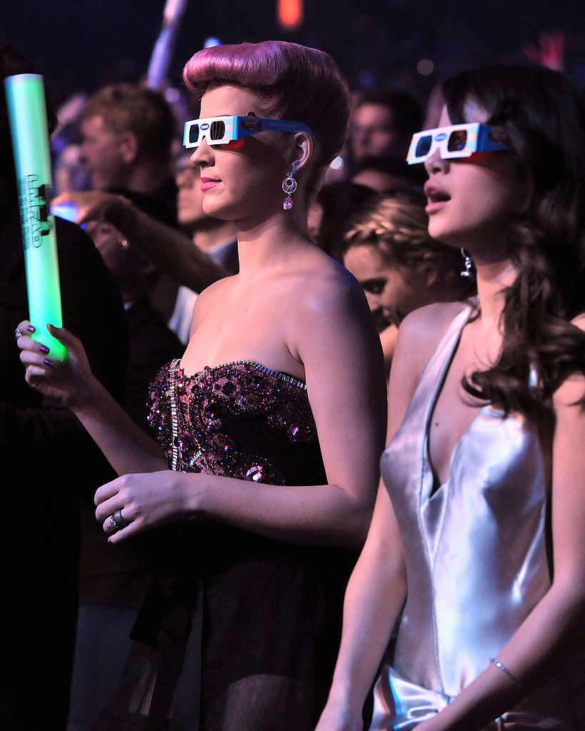 Katy and Selena enjoy the show.