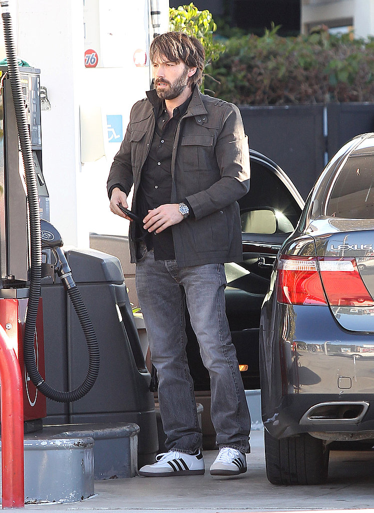 Ben Affleck pumped gas.