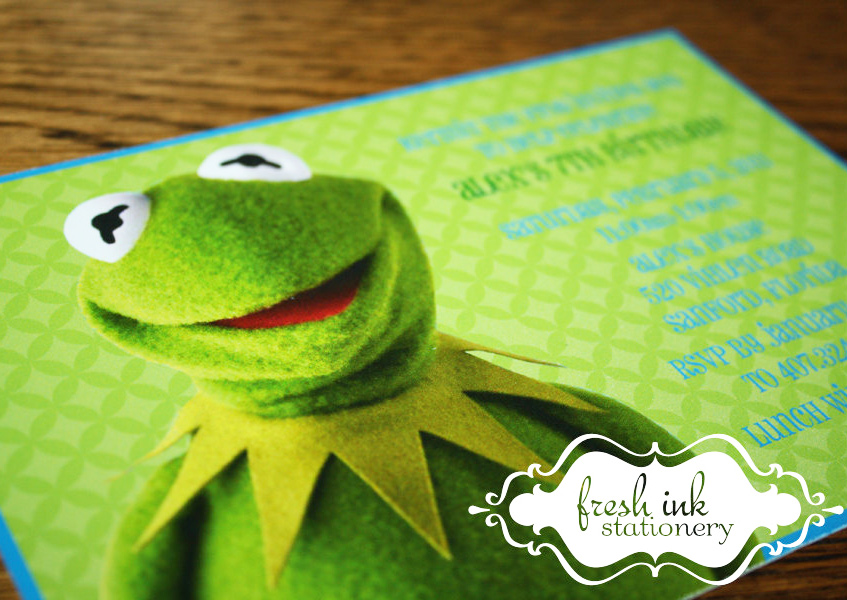 Kermit the Frog Birthday Invitation ($13 For 10)
