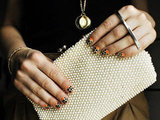 Pattern and texture to match a kisslock clutch.
