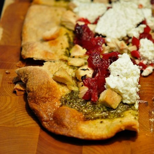 Turkey, Cranberry, & Pesto Pizza