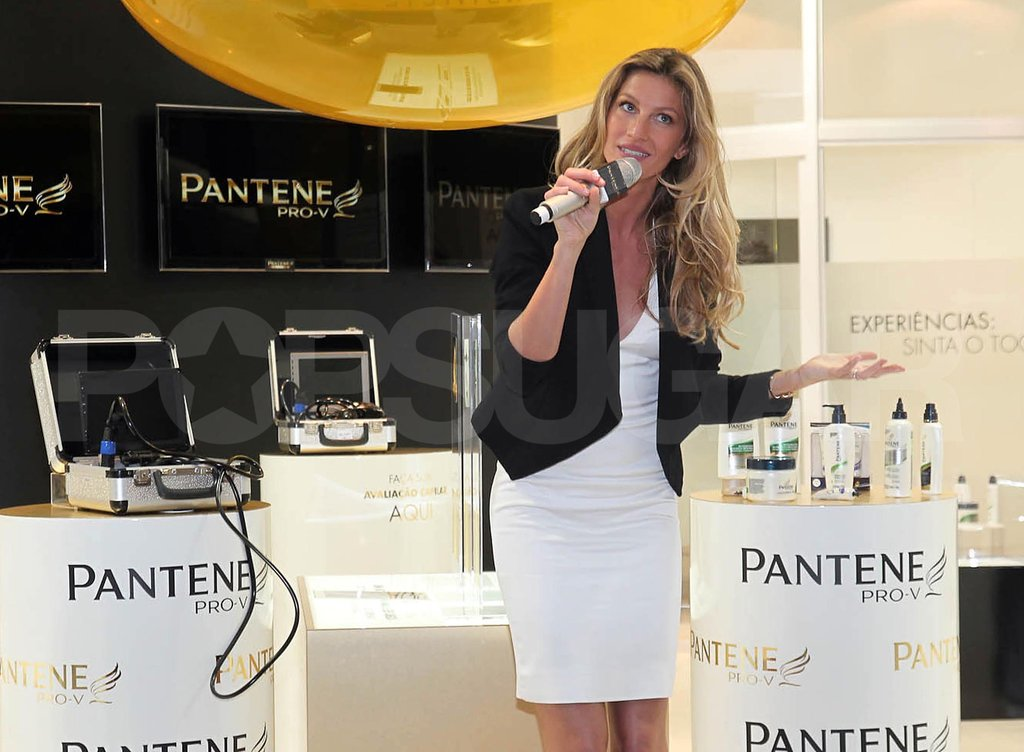 Gisele Bundchen attended a Pantene event in Sao Paulo.