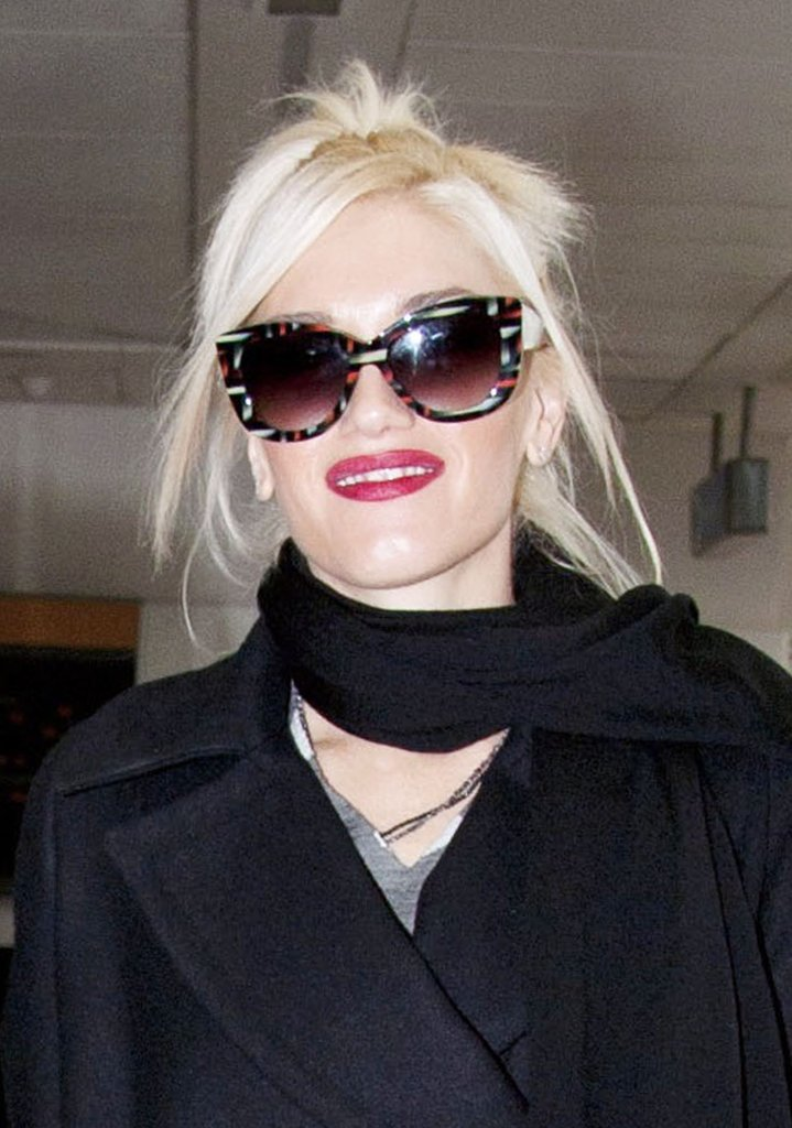 Gwen Stefani at Heathrow.