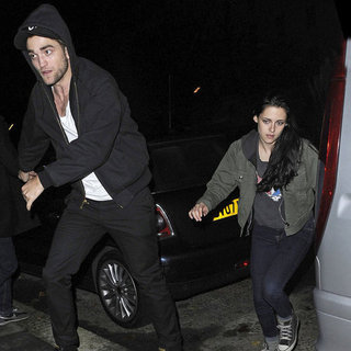 Robert Pattinson Kristen Stewart London Partying Pictures