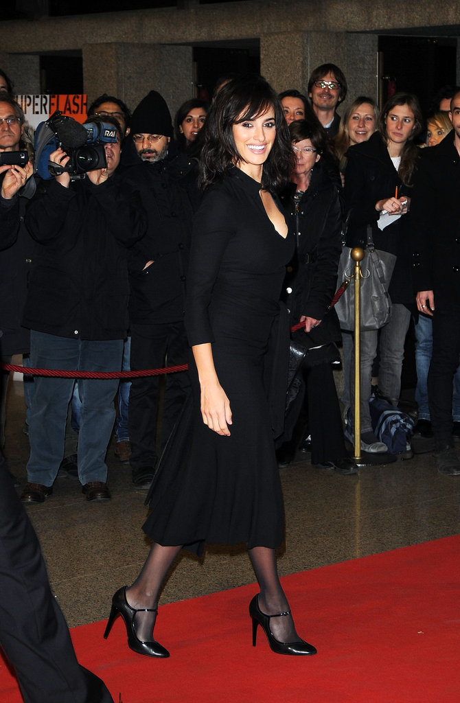 Penelope Cruz posed for photos in Turin.