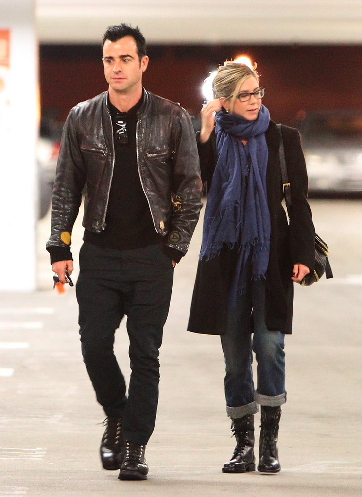 Jennifer Aniston and Justin Theroux out in LA.