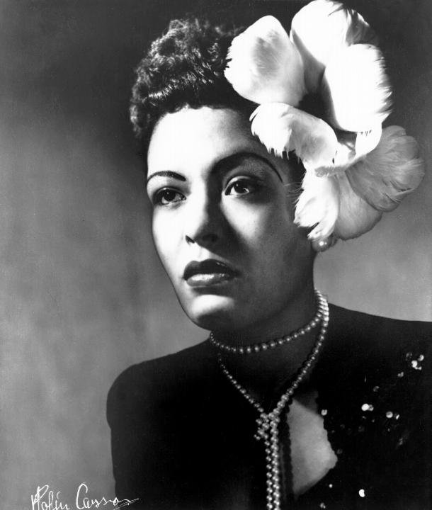 Billie Holiday's Floral Fascinator