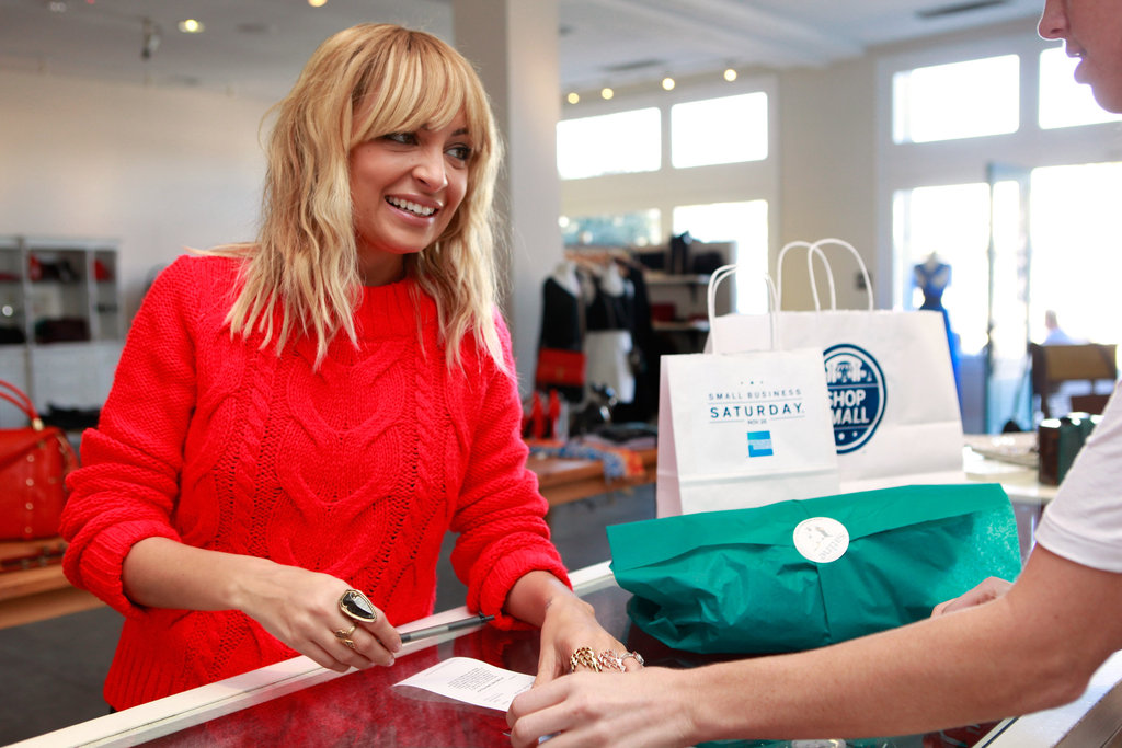 Nicole Richie bought some clothes at Satine.