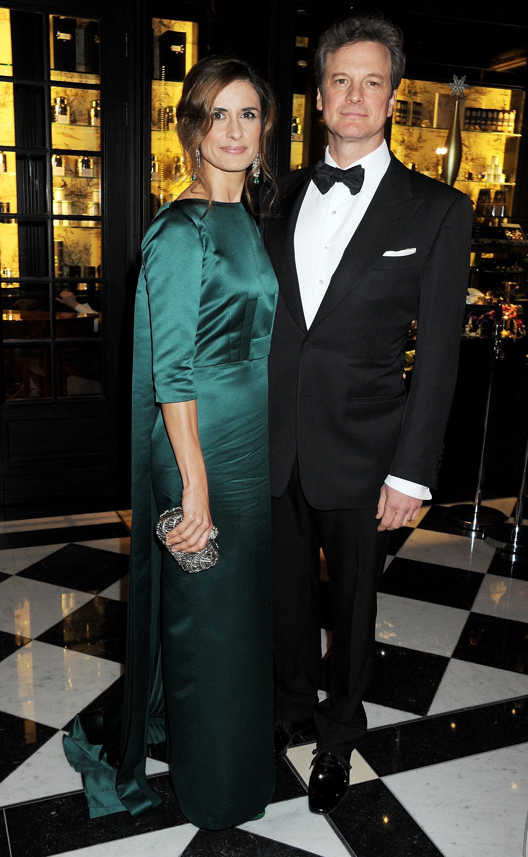 Colin Firth and his wife, Livia Giuggioli.