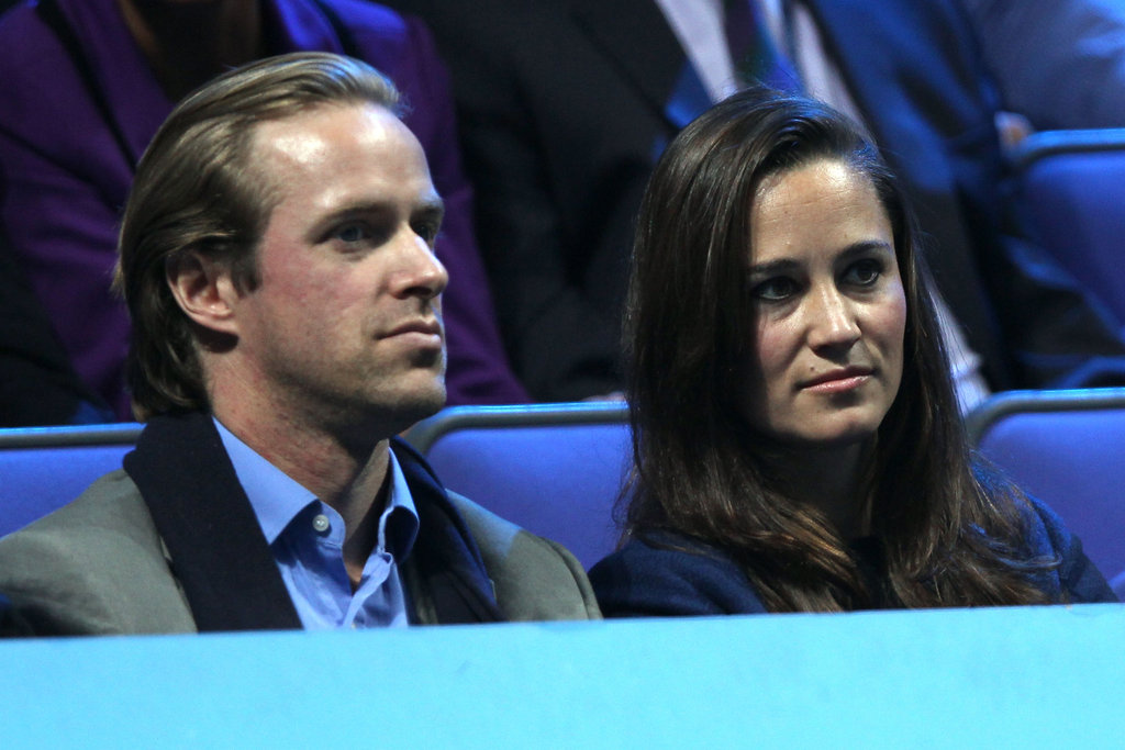 Pippa Middleton checked out a tennis match in London.