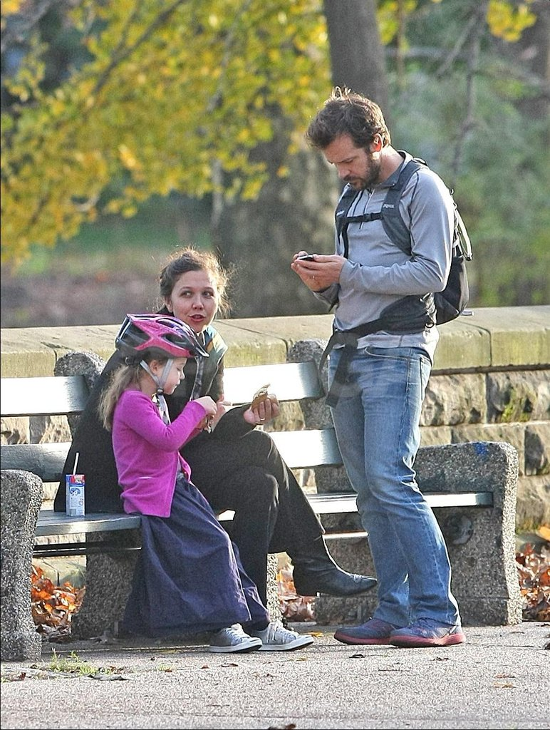 Peter Sarsgaard spent the day with his possibly pregnant wife and their daughter, Ramona.