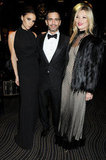 Marc Jacobs was flanked by friends Victoria Beckham and Kate Moss.