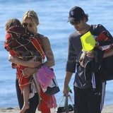 Jillian and Patrick Dempsey took their twins, Sullivan and Darby, to the beach.