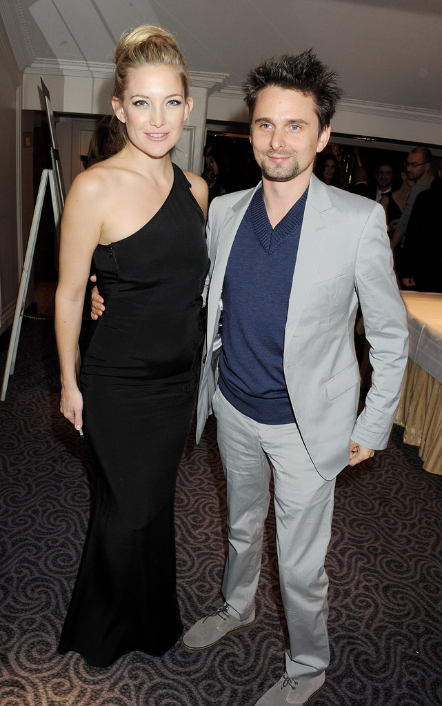 Mattew Bellamy wore a gray suit and accompanied his lovely fiancée Kate Hudson to the British Fashion Awards in London.