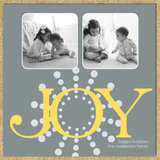Snowflake Joy Holiday Card ($15 For 10)