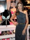 Miranda Kerr posed for photos with the $2.5 million Fantasy Treasure Bra.